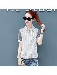 DYY4512654 Vestido de verano camisa de manga corta a rayas delgada camisa de mujer salvaje de