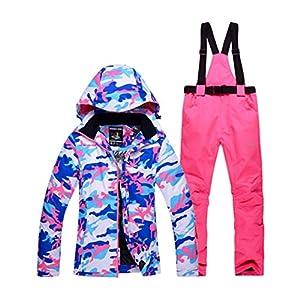 DOUSPORT Damen Skianzug Set Winddicht Wasserdicht Warm Outdoor Sportswear Abnehmbare Skijacken Und Hosen