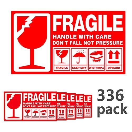 Lanyifang 336piezas Etiquetas Adhesiva Frágiles Etiqueta