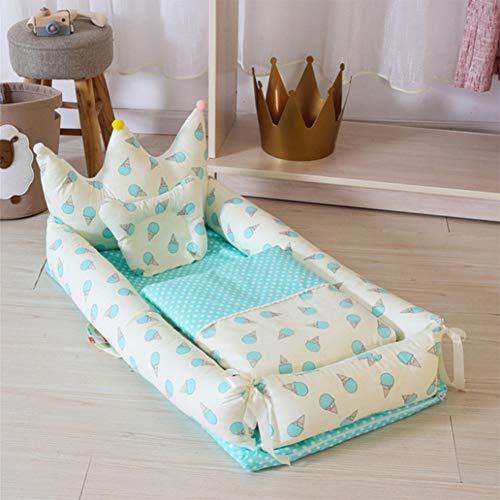 Baby Nest Kissen CocoonPortable Bettdecke Isolation Bettform Modell Bionic Baby Bett,Color6,90x55x35cm