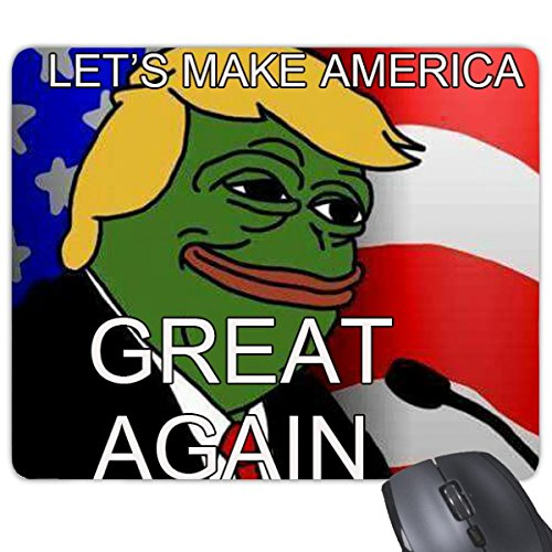 America American SAD Frog presidente Trump Funny Let' s make America Great Again Ridicolo Spoof Meme immagine rettangolo gomma antiscivolo mouse Game mouse pad