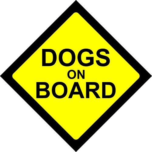 HUNDE AN BORD WARNUNG SICHERHEITSHINWEIS Vinyl-Aufkleber für Auto-Fahrzeug-Fenster (Auto-fenster-aufkleber Hunde)