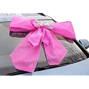 Große Autoschleife pink