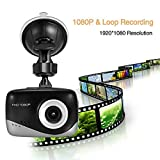 #10: PANSIM 1.5-inch LCD screen Original Full HD 1080P Stylish Car Dash Camera for front view recording (High Quality)