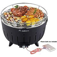 Aobosi Barbacoa de Carbón Sin Humo Barbacoa Mesa Grill Carbón Vegetal Barbacoa de Carbón Con Ventilación