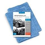 2x POLYCLEAN Auto-Poliertuch aus weicher, extra langfloriger Microfaser P-9000 – Silikonfreie Ultraschall-Kante / HFX-Hochglanz-Tuch im XXL-Format (60 x 40 cm, Blau, 2 Stück)