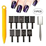 Xiton Kit Nail Art 11pcs Occhi di gatto 3d Magnet stick per smalto gel per unghie magico strumento Nail art decorazioni