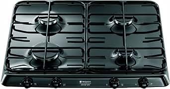 Hotpoint-Ariston PC 640 (BK)/HA Table de cuisson Gaz 4 foyers