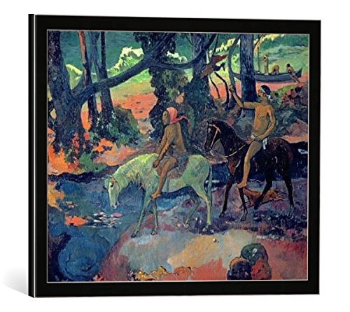 quadro-con-cornice-paul-gauguin-the-escape-the-ford-1901-stampa-artistica-decorativa-cornice-di-alta
