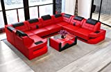 Sofa Dreams Couch U Form Como in Leder mit LED Beleuchtung