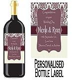 Eternal Design Personalisiertes Flaschenetikett Hochzeit Tag Wein/Spirit wdwl 10