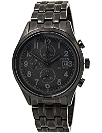 Citizen Men's Eco-Drive Black Ion Plated Chandler Chronograph Watch