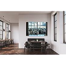 Cuadro PVC Ciudad A través De La Ventana | Cuadros Modernos Baratos | Cuadros Decoración | Cuadros Vitage | Cuadros Salón | Cuadros Decoración Salón | Varias Medidas 100x60cm | Fácil colocación | Decoración Habitación | Motivos paisajisticos | Naturaleza | Urbes | Multicolor | Diseño Elegante