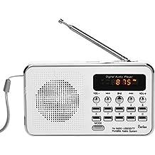 BeiLan FM Radio portatil Medios digitales Boombox Altavoz Reproductor de música MP3 Soporte Puerto USB AUX Ranura para tarjeta TF de la tarjeta SD/MMC Enchufe de Jack para auriculares de 3.5mm