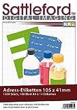 Sattleford Drucker Etiketten: 1400 Adress-Etiketten 105x41 mm Universal für Laser/Inkjet (Klebeettiketten)