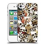 Head Case Designs Offizielle Ali Gulec Panne Sturtz Schaedel Soft Gel Hülle für iPhone 4 / iPhone 4S