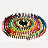Highdas 120pcs Domino bloques de madera, juguete de Inteligencia Educación y Desarrollo de Niños, Juego de construcción, juguete de apilamiento
