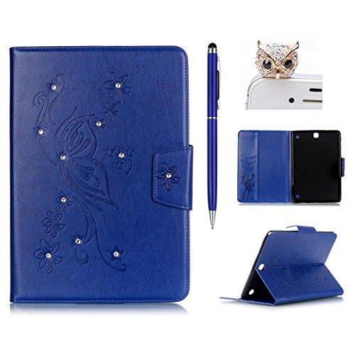 Felfy-Coque-Pour-Samsung-Tab-A-97-T550Galaxy-Tab-A-T555-Case-Cover-PU-Cuir-tui-Folio-Flip-Style-Wallet-Bookstyle-Cover-Fashion-Creative-Design-Couple-de-Pissenlit-Motif-Design-Premium-PU-Cuir-Wallet-A