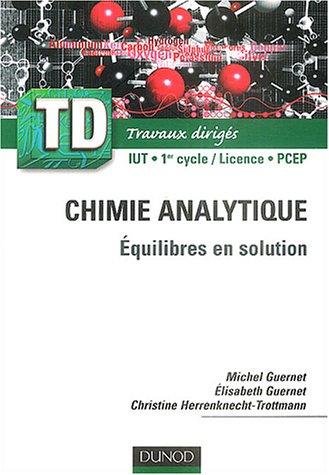 TD de chimie analytique : quilibres en solutions