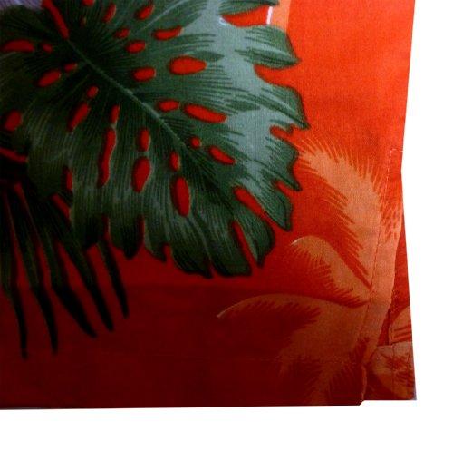 Original King Kameha   Funky Hawaiihemd   Herren   XS - 12XL   Kurzarm   Front-Tasche   Hawaii-Print   Kleine Blumen Palmen Blätter   Orange Orange