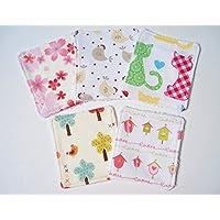 Lot de 5 lingettes douces et lavables en éponge de bambou oekotex pour bébé ou lingettes démaquillantes