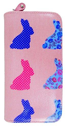 Kukubird Vari Gatti Unicorni Animali Ancora Ombrello Floreale Pattern Large Signore Borsa Frizione Portafoglio Rabbit Pink