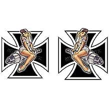 454/1 King Kerosin < Set Pin Up XL 15cm > pegatina/STICKER