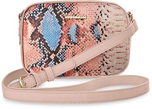 877212c45cdee Monnari einizgartige Schultertasche Damentasche Schlangenmuster puderrosa