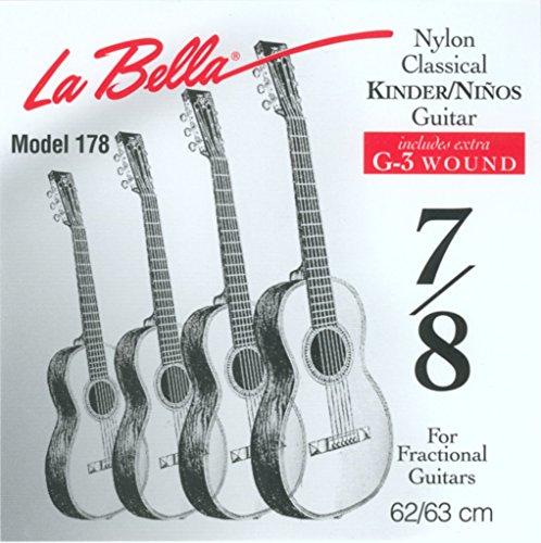 La Bella FG178, Gitarrensaiten für 7/8 Größe Konzertgitarre/Kindergitarre
