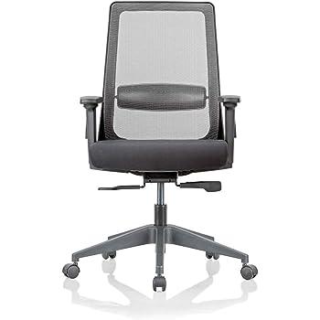 07edbbb5c53 Featherlite Amaze Project Medium Back Arm Chair (Black)  Amazon.in ...