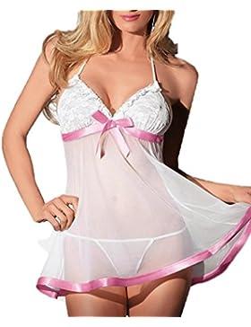 [Patrocinado]OverDose conjuntos de lencería erotica mujer seductive perspectiva de la correa vestido + ropa interior