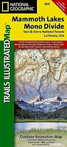 National Geographic Trails Illustrated Topographic Map Mammoth Lakes / Mono Divide, California: Inyo and Sierra National Forests