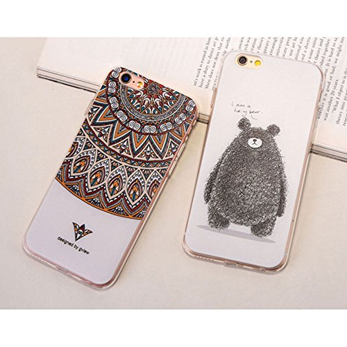 Apple Cover in Silicone TPU Case Cover TPU Gel Silicone Copertura Tacsa Custodia Caso Cover per iPhone 7 plus ( 5.5)orso Totem