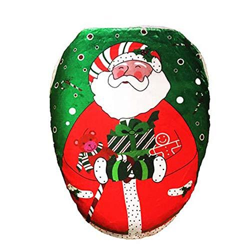 (LoveLeiter Weihnachten WC-Set WC Cover Dekorationen Badezimmer Faltbare Toilettensitze für Kinder/Baby Tragbarer Reise WC Sitz Kleinkind Töpfchen mit Aufbewahrungstüte WC-Sitzwärmer(B))