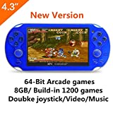 8G Handheld Game Console 4.3 Inch 32Bit Mp4 Player Video Game Console Retro