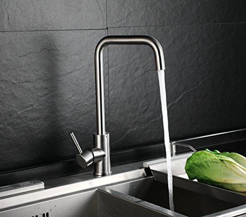 HOMFA Grifo de Cocina Extraible para Fregadero Grifo Cocina 360°Rotación Caliente y Fría del Grifería para lavabo baño cocina y fregadero