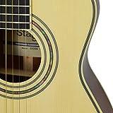 Stagg SV209 Viaggio Guitare acoustique de voyage avec Gig Bag Housse Naturel Marron