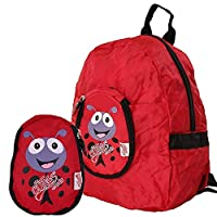 Cuties and Pals Kids Foldable Backpack Polka The Ladybird | Childrens Rucksack | Child