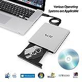 LeaningTech BD-1 Super-BluDrive, Lettore DVD Blu-Ray Disc Burner e SuperDrive per Mac, Windows, Vista Device, USB 3.0, Shell di alluminio in lega (Argento)