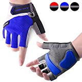 COOLOO Cycling Gloves Biking Bike Gloves for Men & Women, Protective Anti-slip Breathable Shock-absorbing Pad Half Finger Cycling Gloves