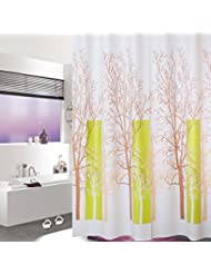 D G F Cortina de la ducha de PEVA Cuarto de baño interno Cortinas de ducha de la alta calidad Niebla impermeable Ventana transpirable Cortinas colgantes Multi-tamaño Opcional ( Tamaño : 120*180cm )