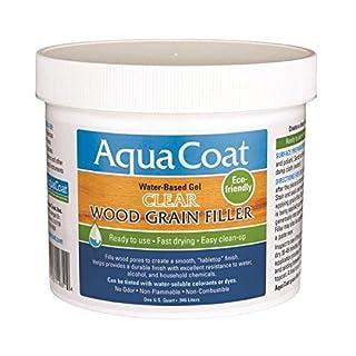 Aqua Coat Clear Wood Grain Filler Qt by Aqua Coat