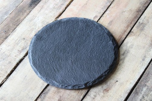 """Organic Home 12"""" Inch Natural Round Slate Platter Serving Platter Cheese Platter Server Pizza Server"""
