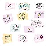 24er Set Spruch-Karten Mix I dv_342 I Format DIN A6 I Typographie Postkarten-Set für verschiedene Anlässe I Liebe Freundschaft Geburtstag Dankeskarte
