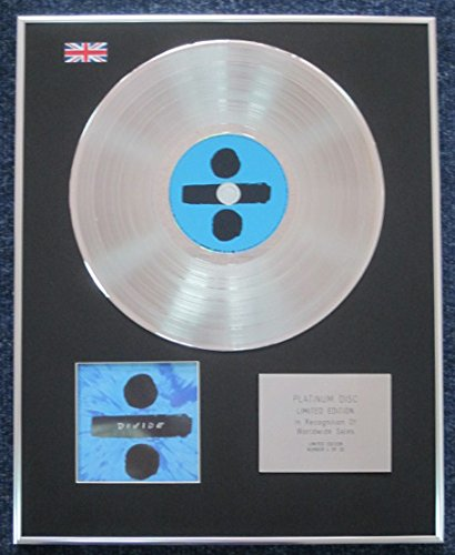Ed Sheeran - Limited Edition CD Platinum LP Disc - Divide