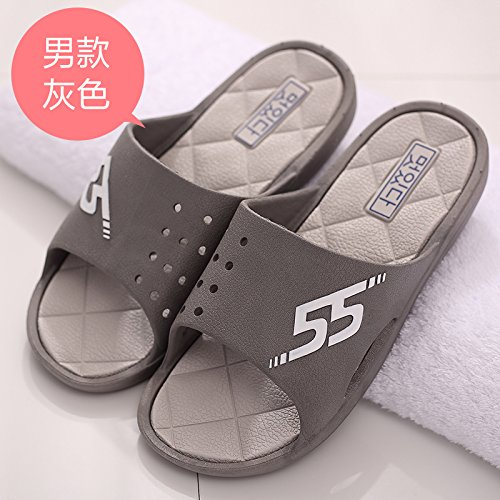 DogHaccd pantofole,Cool pantofole estate uomini indoor anti-slip da bagno soggiorno scanalato home beach massaggi ciabatte da bagno in estate di codice Grigio1