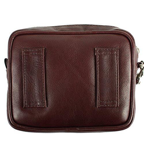 Lederbags Borsa Messenger Nero nero marrone