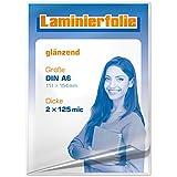 plastificar para DIN A6, 2x 125micrones, brillante, 100unidades)
