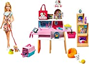 Barbie Doll and Pet Boutique Playset with 4 Pets and Accessories, for 3 to 7 Year Olds GRG90