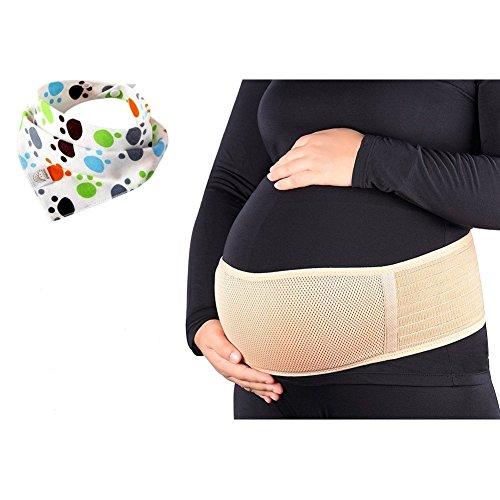 Aigor Schwangerschaft Gürtel Stützgürtel Bauchband Bauchstütze Gurt für Schwangere Bevor oder nach Geburt, One Größe (Khaki2)